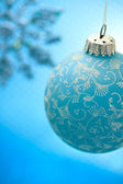 Blue Christmas ornament — Stock Photo