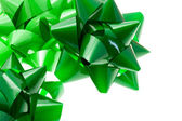 Green gift bows — 图库照片