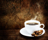Hot Cup of Coffee with Cinnamon and Star Anise — Foto Stock