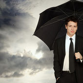 Stylish Man with Umbrella — Stock Photo