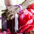Stock Photo: Flowers bouquet essential oil