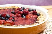 Red fruits tart — Stock Photo