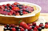Homemade red fruits tart — Stock Photo
