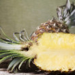 Stock Photo: Ananas fruit and pulp