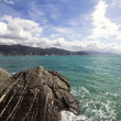 Windy day in liguria — Foto Stock