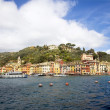 Portofino harbour and village — Stock Photo