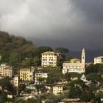 Coastal village near Camogli, Liguria — Stock Photo