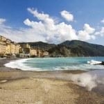 Camogli village and beach — Stock Photo