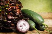 Salad raw ingredients — Stock Photo