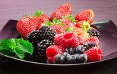 Výběr červeného ovoce — Stock fotografie