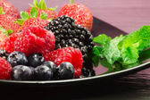 Red fruits selection — Stockfoto