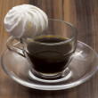 Coffee cup with meringue — Stock Photo
