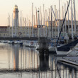 Lighthouse at Trieste harbour — Stock Photo