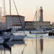 Lighthouse in Trieste harbour — Stock Photo