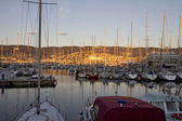 Trieste panorama at sunset — Stock Photo