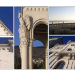 Miramare castle collage — Stock Photo