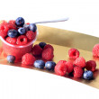 Red fruits mousse — Stock Photo