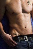 男性肌肉的身体 — 图库照片