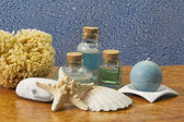 Thalassotherapy and batsh accessories — Stock Photo