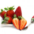 Strawvberry plate — Stock Photo