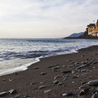 Camogli beach with church — Stock Photo #9834999