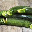 Raw and fresh zucchini — Stock Photo
