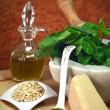 Pesto ingredients — Stockfoto