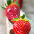 Strawberries on wood — Foto Stock