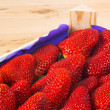 Strawberries full box — Stockfoto