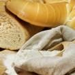 Flour and bread shape — Stock Photo