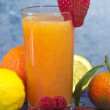 Soft drink with fruits selection — ストック写真