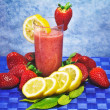 Stock Photo: Strawberry and lemon soft drink