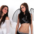 Stock Photo: Demon and angel