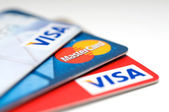 VISA and Mastercard credit card — Stock Photo