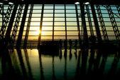 机场等待 — 图库照片