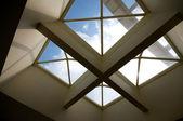 Cross ceiling windows — Stock Photo