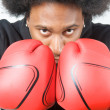 African American Boxer pose — Stock Photo #10058755