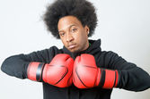 African American Boxer — Stock Photo