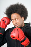 African American Boxer aggression — Stock Photo
