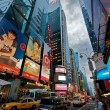 Evening Traffic at Time Square in New York City — Stock Photo #10426643
