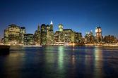 New York Skyline at night — Stock Photo