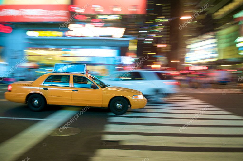 New York City Taxi, Times Square in New York City — Stock Photo #10427769