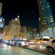 Stock Photo: Chicago Evening Traffic and city life
