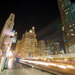 Traffic on Michigan Avenue in Chicago - Stok fotoğraf
