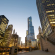 Cityscape view at the Chicago River — Stock Photo #10431200