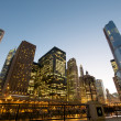 Cityscape view at the Chicago River — Stock Photo #10431216