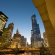 Chicago River at Night — Stock Photo #10431262
