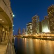 Chicago River at Night — Stock Photo #10432511