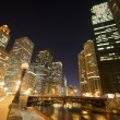 Chicago River at Night — Stock Photo #10432701