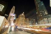 Traffic on Michigan Avenue in Chicago — Stock Photo